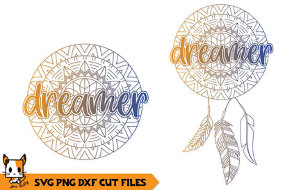 Dreamer Boho Dreamcatcher | Mandala SVG SVG Zen Kitty