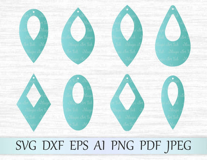Earrings with holes SVG MagicArtLab