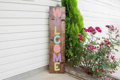 Easter Porch Sign - Welcome SVG Simply Cutz