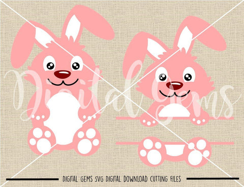 Easter Rabbit SVG / DXF / EPS / PNG files SVG Digital Gems