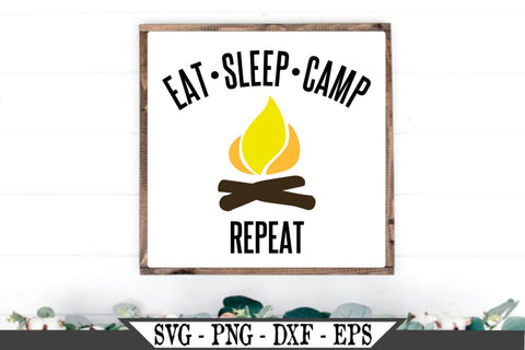Eat Sleep Camp Repeat SVG Vector Cut File SVG My Sassy Gifts