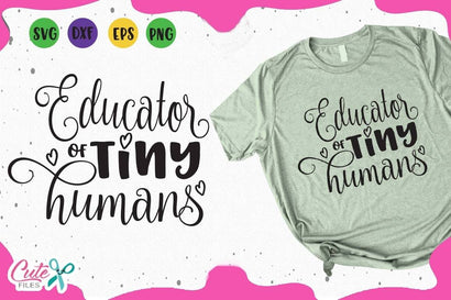 Educator of mini human Svg Cut File SVG Cute files