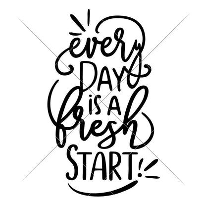 Every Day is a fresh Start SVG Chameleon Cuttables