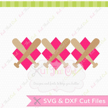 EXCLUSIVE Baseball Diamond Argyle SVG & DXF Design File Kut That Out