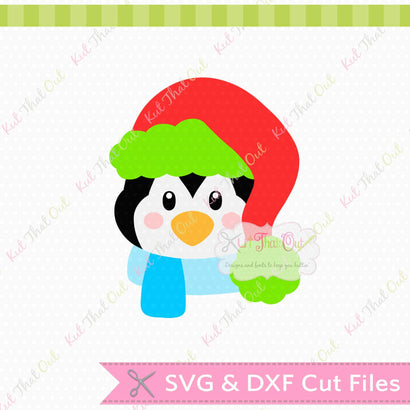 Exclusive Fluffy Hat Penguin SVG & DXF Cut File Kut That Out