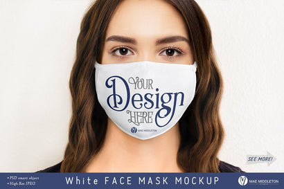 Face Mask mockup, female | psd & jpg Mock Up Photo Mae Middleton Studio