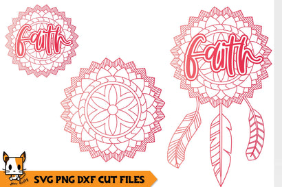 Faith Boho Dreamcatcher | Mandala SVG SVG Zen Kitty