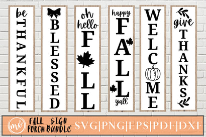 Fall Porch Sign SVG Bundle SVG MockupSvgVenue