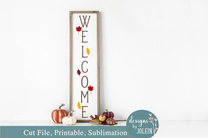 Fall Welcome Sign SVG Designs by Jolein