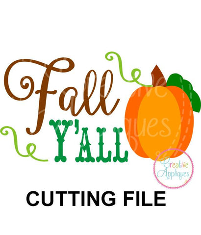 Fall Y'all Cut File Creative Appliques