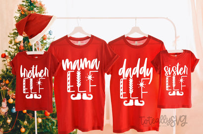 Family Elf Crew Mini Bundle, Christmas Holiday SVG Design SVG Toteally Creations