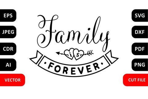 Family is forever Family SVG Quote cut file Valentine Love SVG Zoya Miller