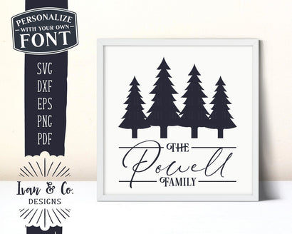 Family Name SVG Files | Last Name | Christmas | Christmas Tree SVG (893850679) SVG Ivan & Co. Designs