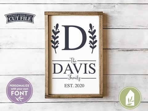 Family Name SVG | Last Name Sign SVG | Monogram SVG SVG LilleJuniper