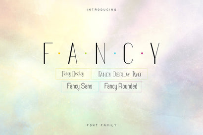 Fancy Font Family - 12 Fonts Font VPcreativeshop