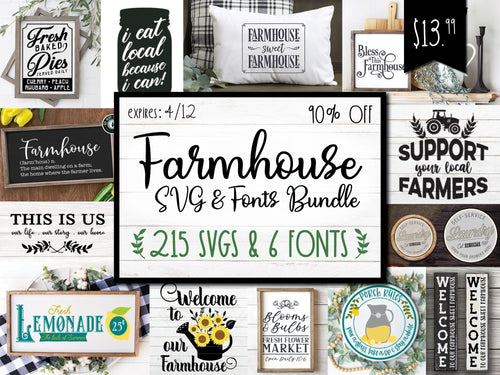Farmhouse SVG & Font Bundle