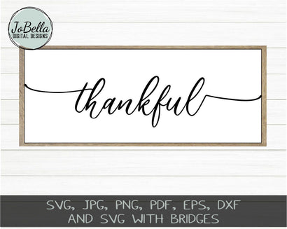 Farmhouse Thankful SVG Cut File and Printable SVG JoBella Digital Designs