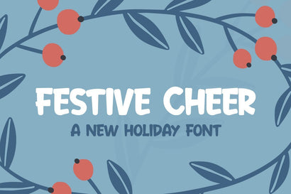Festive Cheer Font Font Salt & Pepper Designs