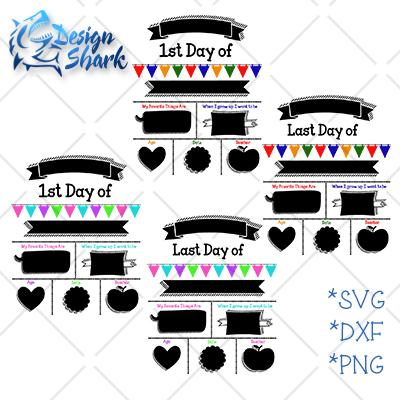 First and Last day of School Set SVG Design Shark