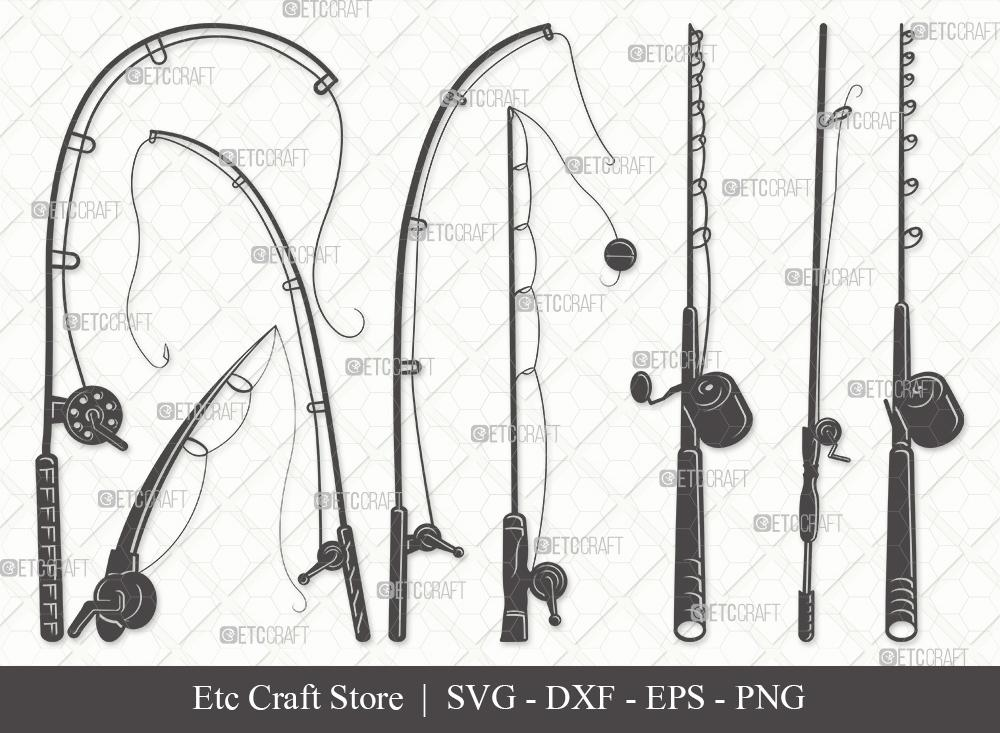 Download Fishing Rod Silhouette Svg Cut File Fishing Rod Svg Fishing Pole Svg Fishing Hook Svg Bundle Eps Dxf Png So Fontsy