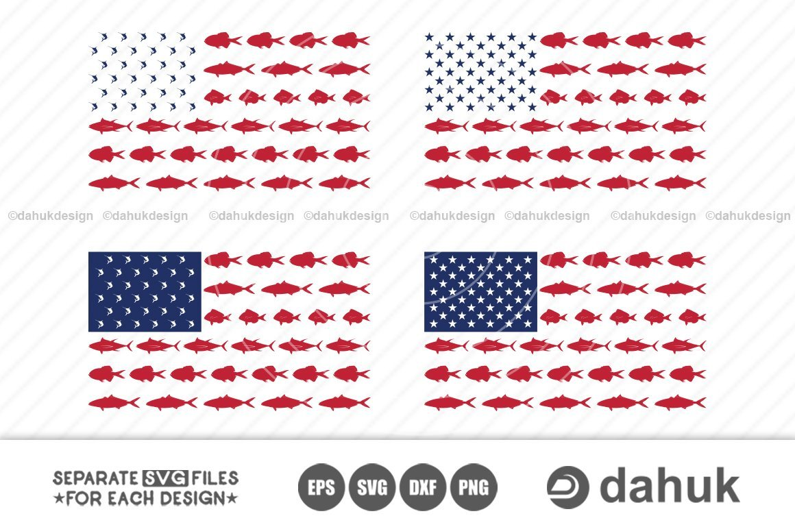 Download Fishing Usa Flag Svg American Flag Fish Svg Silhouette Clipart Cuttable Design So Fontsy