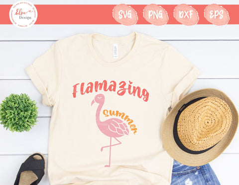 Flamazing Summer - SVG, PNG, DXF, EPS SVG Elsie Loves Design