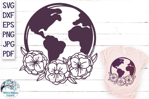 Floral Earth SVG SVG Wispy Willow Designs