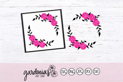 Floral Wreath Layers / Flower Wreath Layers SVG Gardenias Art Shop