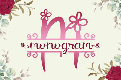 Flower Monogram Calligraphy Font Illushvara Design
