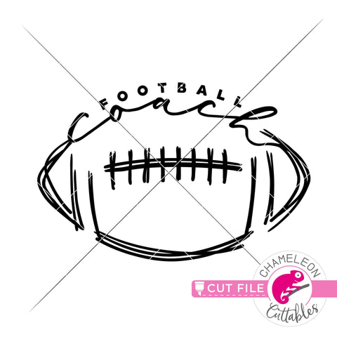Football coach sports svg dxf png SVG Chameleon Cuttables