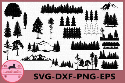 Forest Woodland Svg SVG Lerastudio