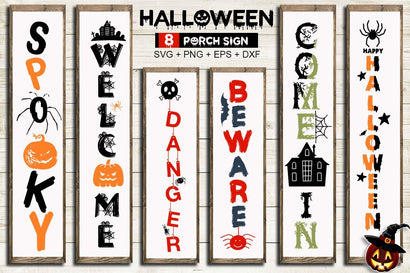 Free Halloween Porch Sign SVG Bundle SVG Designangry