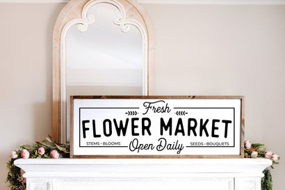 Fresh Flower Market SVG, Spring Decor SVG, Farmhouse Spring Decor SVG SVG Simply Cutz
