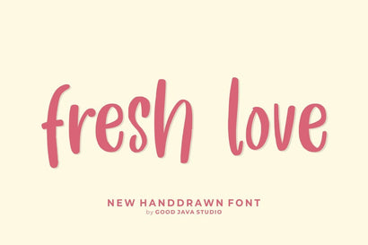 Fresh Love – Handwritten Font Font Good Java