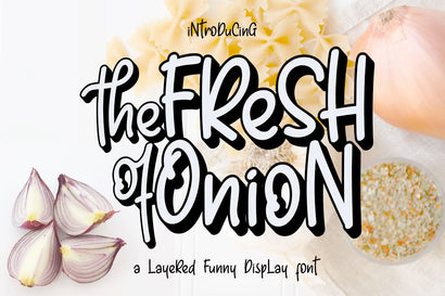 Fresh Onion // Layered Funny Display Font Font Haksen