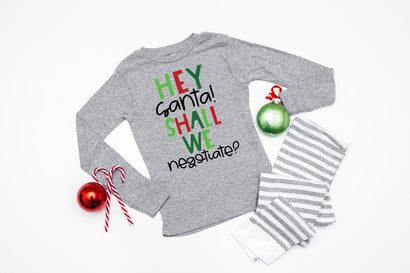 Funny Kids Christmas SVG - Hey Santa! Shall We Negotiate? SVG Simply Cutz