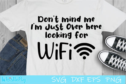 Funny Svg Funny Wifi Svg Looking for Wifi Svg SVG Whistlepig Designs