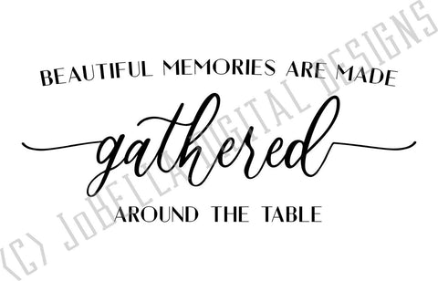 Gathered Around The Table SVG Cut File and Printable SVG JoBella Digital Designs