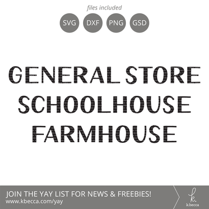 General Store SVG - Schoolhouse SVG - Farmhouse SVG SVG k.becca