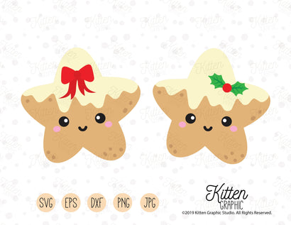 Gingerbread Star Set SVG KittenGraphic