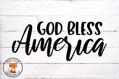 God Bless America SVG | 4th of July SVG |SVG PNG DXF SVG RedFoxDesignsUS