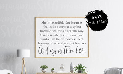 God Is Within Her Svg, Christian Quote Svg, Scripture Svg, God Is With Her, Bible Verse Svg SVG MaiamiiiSVG