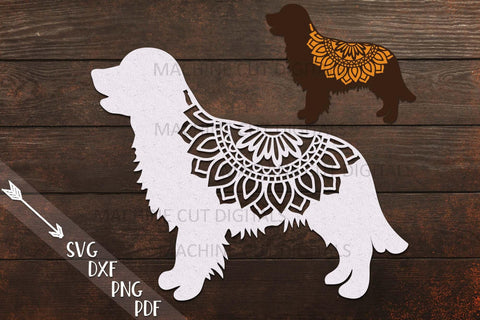 Golden Retriever Layered Mandala Dog sign svg dxf cut out template SVG kartcreationii