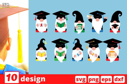 Graduation Gnome SVG Bundle SVG SvgOcean