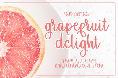 Grapefruit Delight - Hand Lettered Script Font Font Dez Custom Creations