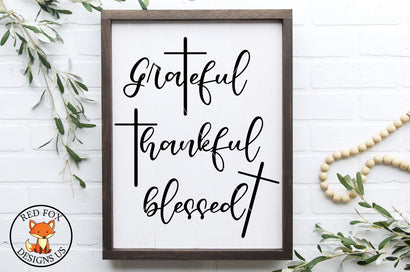 Grateful Thankful Blessed SVG | Thanksgiving SVG | Farmhouse SVG RedFoxDesignsUS