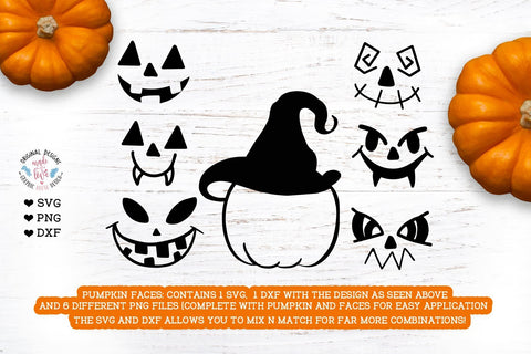 Halloween Pumpkin Faces - Create Your Own SVG Graphic House Design