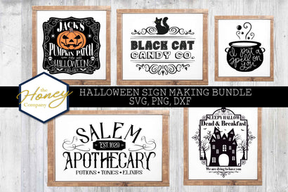 Halloween Sign Bundle SVG PNG DXF Apothecary Vintage Candy Spell On You Wicked Instant Download Silhouette Cricut Cut Files SVG The Honey Company