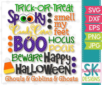 Halloween Words SVG Sweet Kate Designs