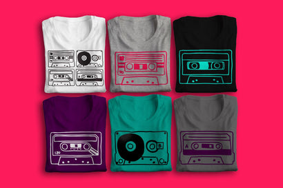 Hand Drawn Cassette Tapes SVG Risa Rocks It